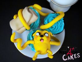 Jake the Dog cupcakes by FangirlBakery