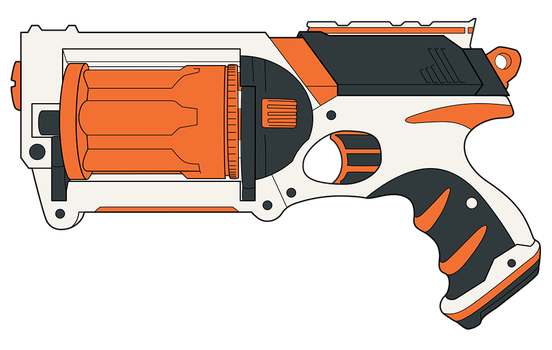 Custom Maverick - OrangeWhite by Squeemishness