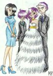 Skippas Family on her wedding (gorillaz OC) by MikuPapercraft