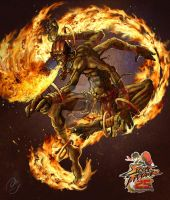 Dhalsim on Fire by angelmarthy