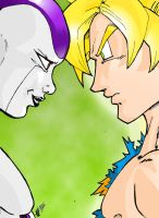 Freeza VS Gokou by Asprine