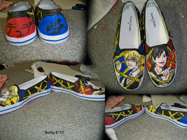 Durarara Shoes by RougeLeaderRed