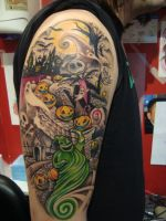 Nightmare before christmas tattoo by Emerica86