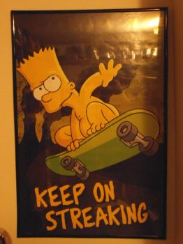Bart Simpson -Keep On Streaking poster by DTWX