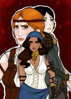 Dragon Age 2 - Women by Le-Saboteur