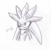 Silver the Hedgehog - drawing by AR-ameth
