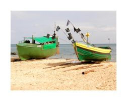 fishing boats by Mariposita1