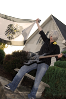Hetalia Cosplay- Prussia's Awesome Guitar Pose by Anime-Kat2002