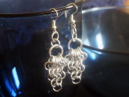 Chainmaille Earrings Aluminum by Lassarina-Jewelry