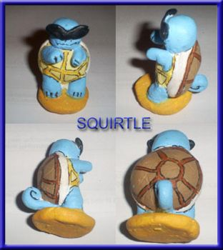 Squirtle Figurine by rebelfemme
