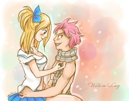 Natsu and Lucy by Evinawer