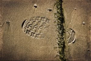 Footprints In The Sand.7 by Bobbyus