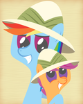 Daring Dash and Scootadoo by DaringDashie