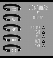 Digi-Chokers [ DL ] 1000 watchers gift pt. 1 by ni-hility