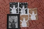 Christmas card projects linocut by Im-Shine