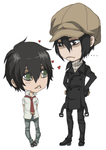 Yoite and Miharu Chibis by Jellygay