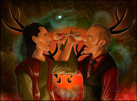 AT - Loki and Hannibal - Masters of Deception by FuriarossaAndMimma