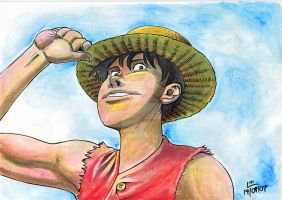Ruffy watercolor by lobster-man