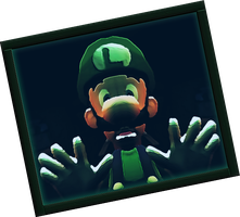 Luigi Trapped In A Painting by 00Ntimmons00