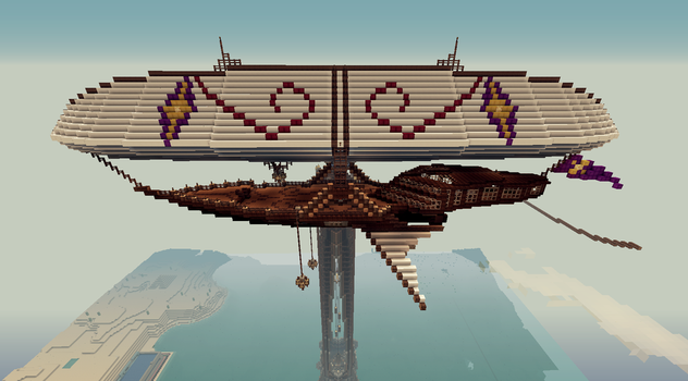 Minecraft Private airship (side view) by CW390