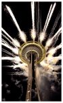 New Year at the Space Needle by pianobleeder