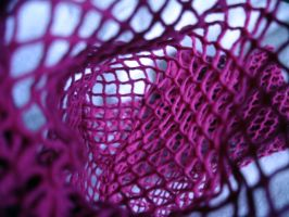 Inside my pink fishnets.. by LittleLucrecia