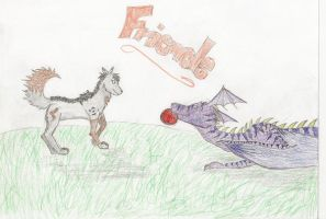 A game of Frisbee? by Kelsaki