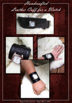 Commission: Celtic Leather Cuff for a Watch by Darya87