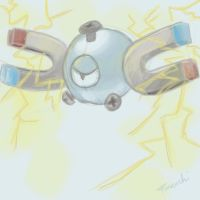 Day 5 - Metallic Magnemite by Furenshi