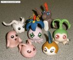 In-training clay Digimon S1 by HeyLookASign