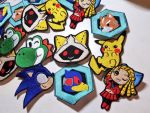 Embroidered Patch-Pins by Lexiipantz