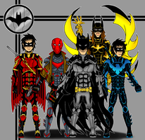 Batman Family by Flash-of-Lingt