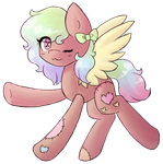 Little Pastel Plushie Pony :Collab with XPopuX: by JustALittleShadow