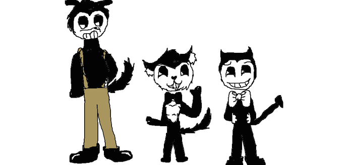 Me(if i were a toon)Bendy,and boris by SpringTrapGurl4Life
