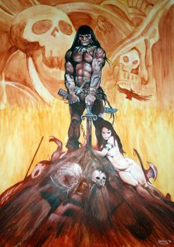 The Barbarian, after Frazetta by robpitts1969