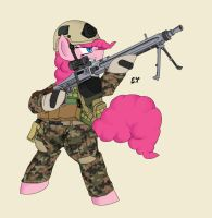 Warfighter Pinkie Pie by Miniyippo