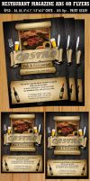 Restaurant-Bar Flyer Ads by Hotpindesigns