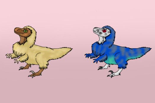 Baby Raptor Adopts--OTA by SpiderMilkshake