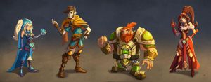 Fantasy characters by MichelVerdu