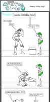 Minecraft Comic: CraftyGirls: Happy B-day Sky by TomBoy-Comics