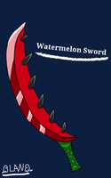 Gift: Watermelon Sword for Trey by LucyLoveHeartfilia