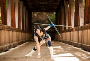 Yuffie Kisaragi: Crouched and Ready by Anatyla
