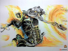 Ghost Rider (Color Pencil Drawing) by Ankredible