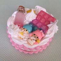Twin Stars Contact Lens Case by kittywithacupcake