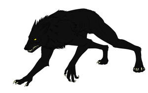 Black Werewolf by Pandadrake