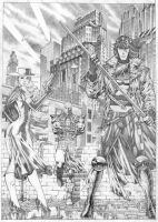 Gambit and Lady Lucky commission, done! by Goldmanpenciler