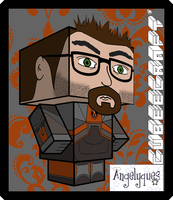 Gordon Freeman Cubeecraft by angelyques