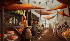 Cat Market by MapleSpyder