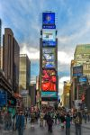 Blue sky at Times Square by Rikitza