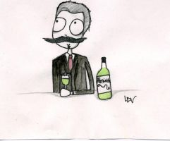 Guy De Maupassant by PsychedelicOctopuss